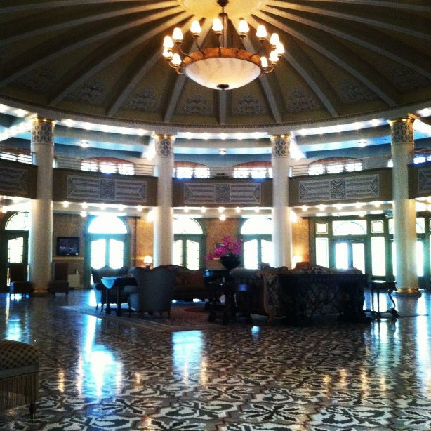 A beautiful ballroom in the West Baden Springs Resort.  Photo by Bastion Crider of Grace at Arms (GRACE@ARMS) March 2012.